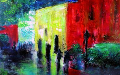 Nuha Assad Rainyday Oil on canvas 50 x 70 cm 2005