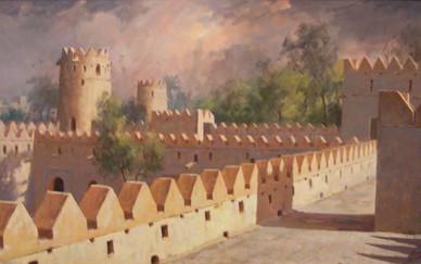 Mohseni Kermanshahi Jaheli Fort in Storm, Al Ain