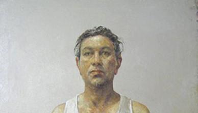 Davood Zandian Self portrait Oil on canvas 100 x 100 cm