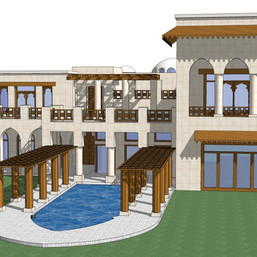 Elevations for another type of villa in Palm Jumeirah