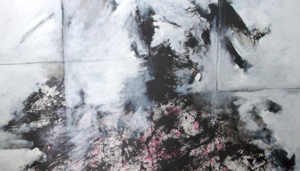Abdul Raheem Salem Me and She Acrylic on canvas 200 x 100 cm 2006