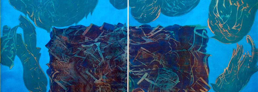 Sedaqat Jabbari Mix media on canvas 100 x 160 cm