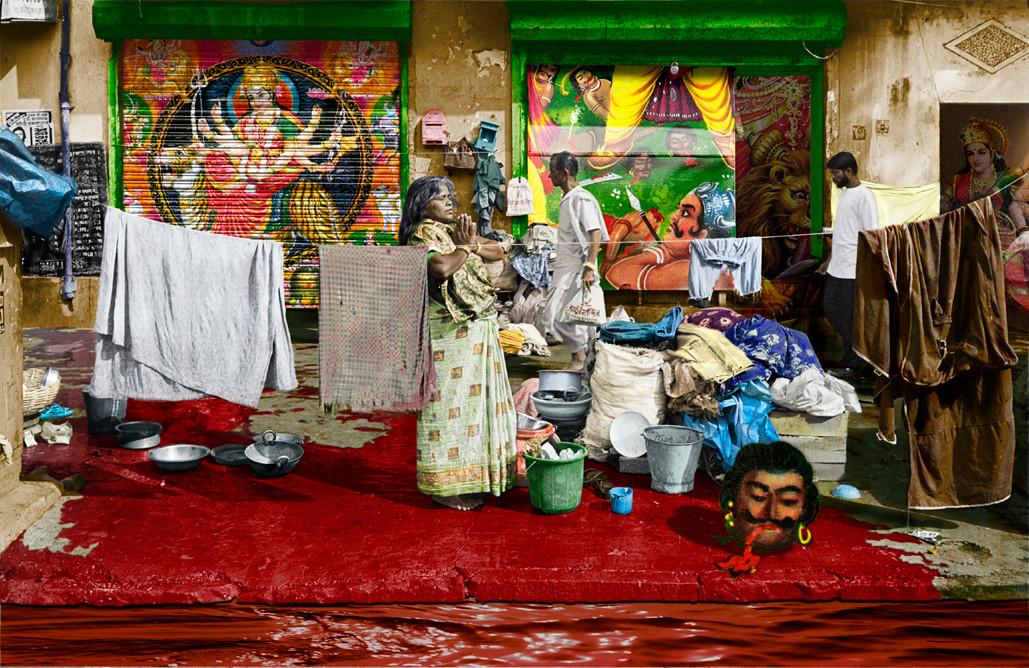 Neil Chowdhury Laundry Digitally manipulated photograph 52 x 40 cm