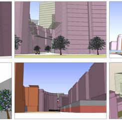 Model studies of views of Downtown Jebel Ali