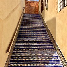 One of many traditional stairways in the old city of Fez - photo by Shabnam Arabi