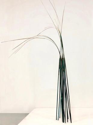Stilts Wood sticks, paint & glue 48 x 20 x 25 cm 2019