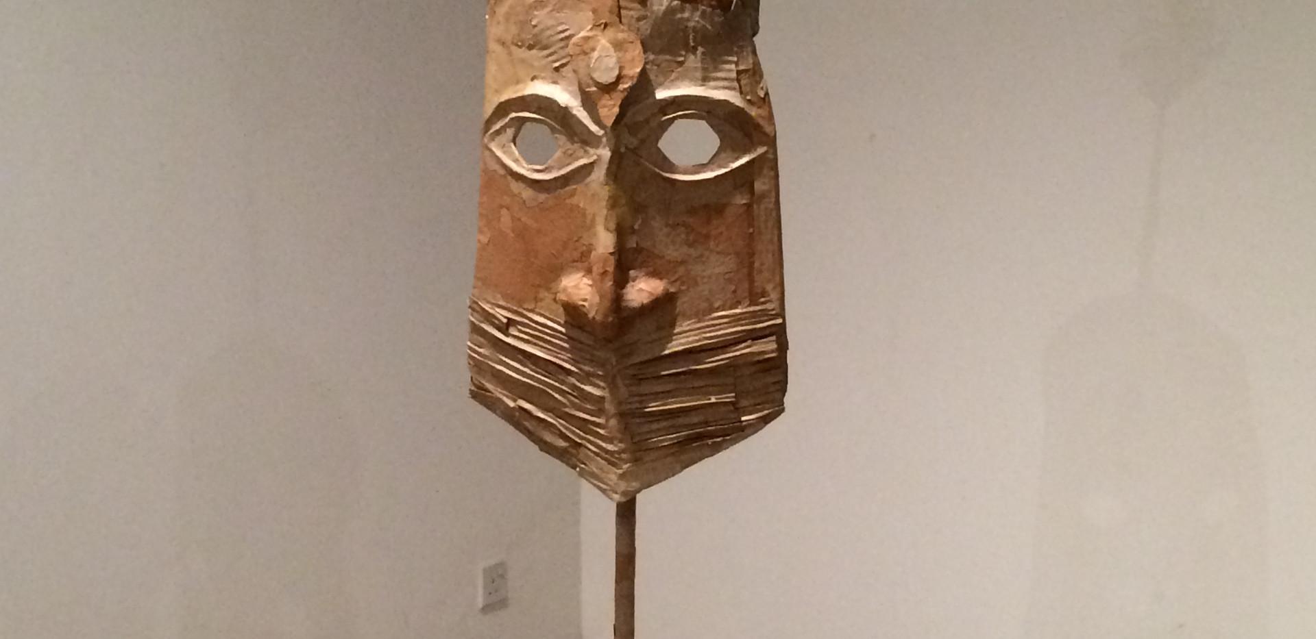 Yasmin Sinai Mask Paper mache and cardboard 2015