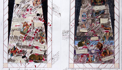 Fereydoun Ave Homework for the long winter nights  Mix media on paper 75 x 110 cm 2018