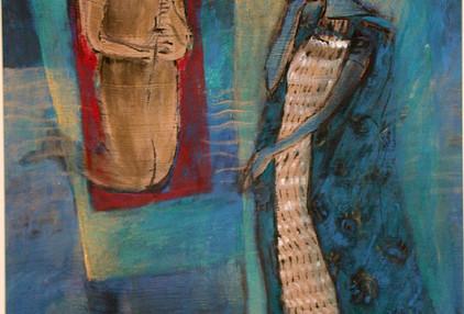 Mohammad Hossein Maher Mix media on paper 70 x 50 cm 2000