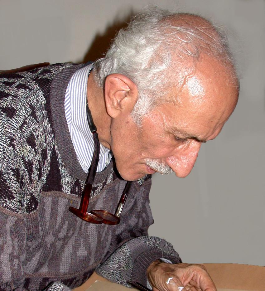 Master calligrapher Gholamhossein Amirkhani