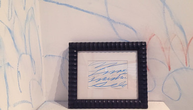 Installation view Cy Twombly signed poster 15 x 20 cm