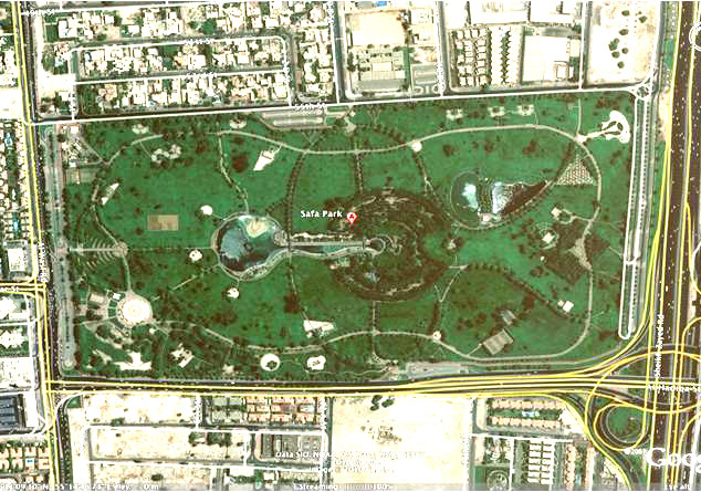 Old Google Earth view of Safa Park