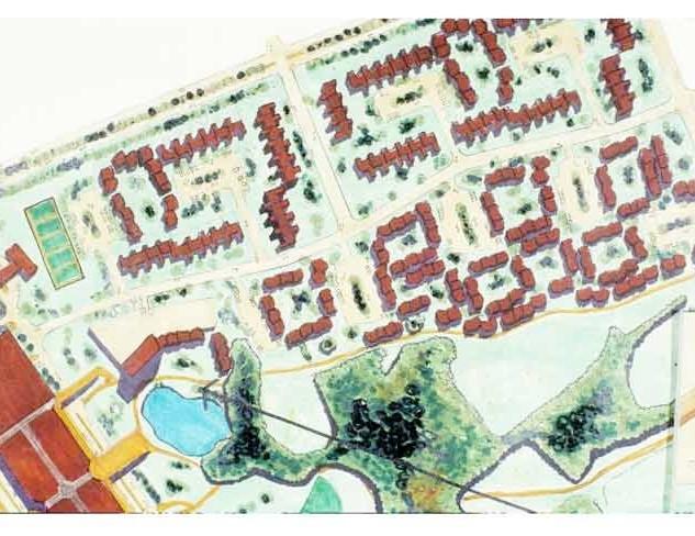 Site plan of housing units