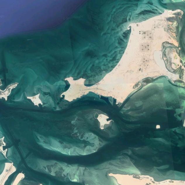 New Google Earth image of Al Ghurub Island