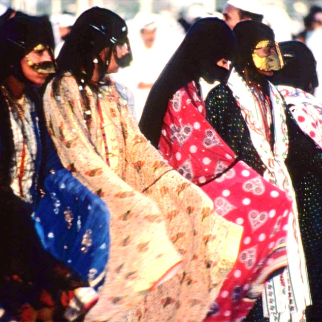 Emirati women performing a traditional dance