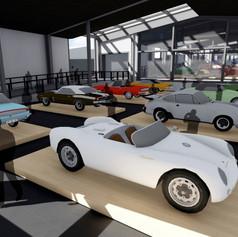 Interior of the proposed car museum