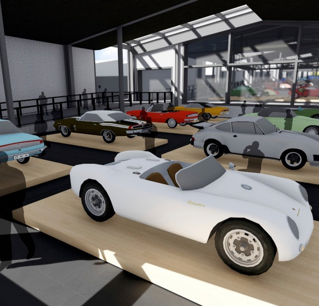 Interior of the proposed car museum