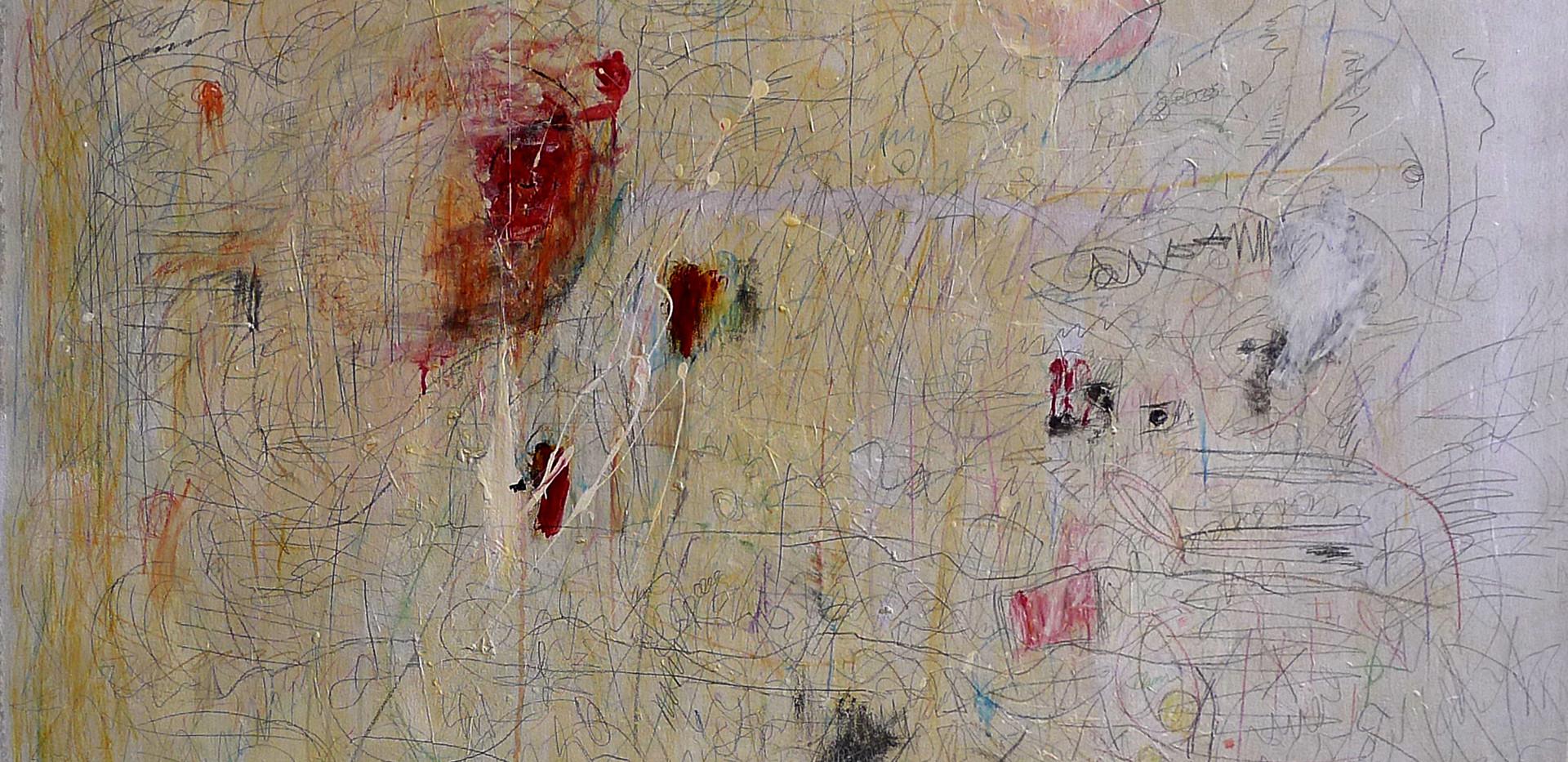 Nelda Gilliam Mix media on Canvas 120 x 120 cm