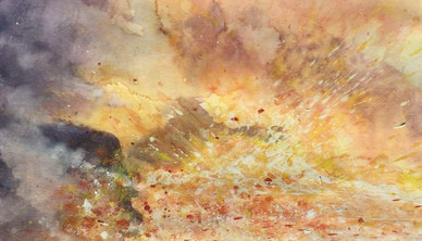 Eruption Watercolor 45.7 x 60.9 cm
