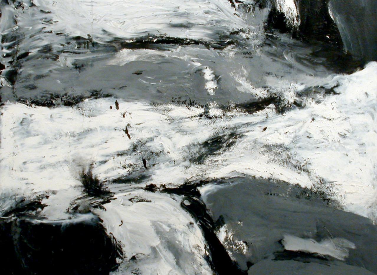 Mostafa Dashti Acrylic on canvas 140 x 140 cm  2002
