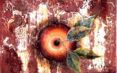 Houda Khalladi, oil mixed media on canvas