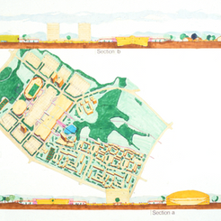 Site plan and section elevation