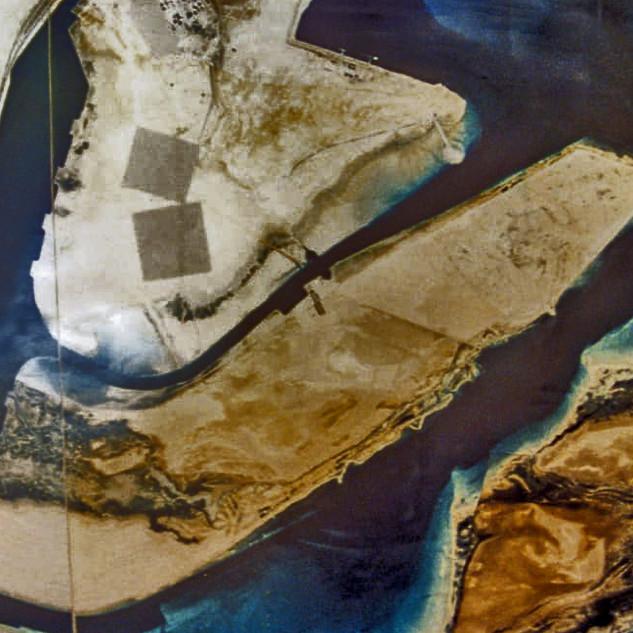Aerial photo of As' Samaliah Island