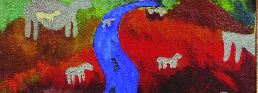 Mohd Ahmad Ibrahim Figure Acrylic on canvas 100 x 100 cm 1998