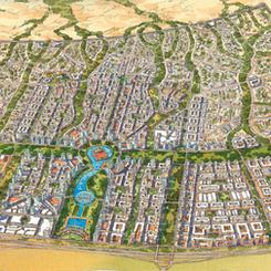 Plan of Al Wasl New Town