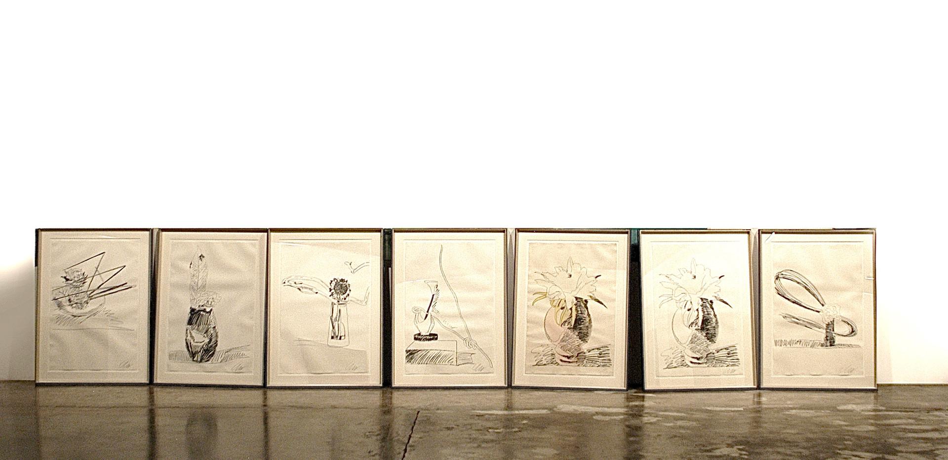 Andy Warhol Flower Black & White Screen print 70 x 100 cm 1974