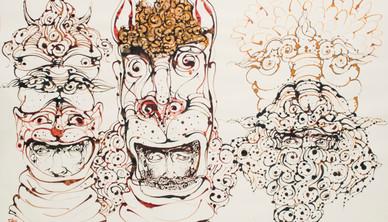 Ahmad Amin Nazar Ink on paper 70 x 99.5 cm 2008