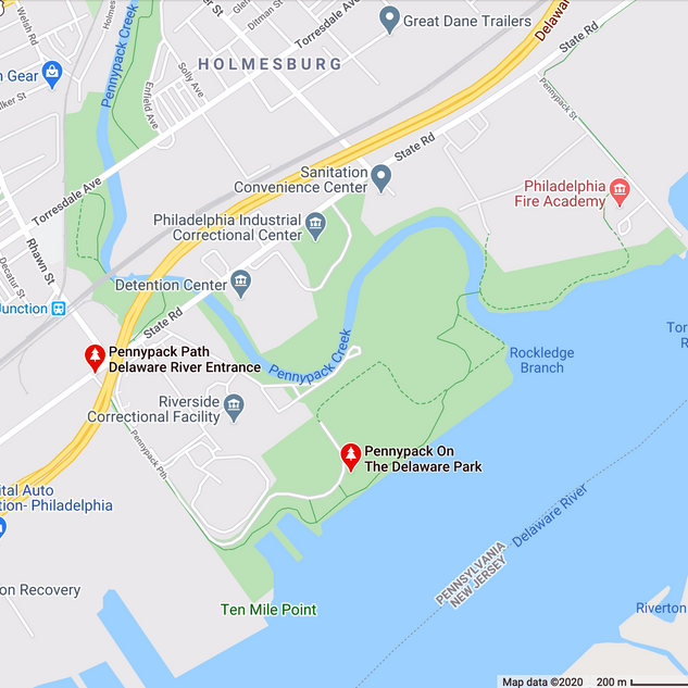 Google Maps view of Pennypack Park