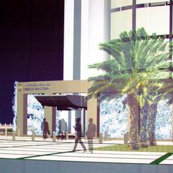 Building entrance sketch
