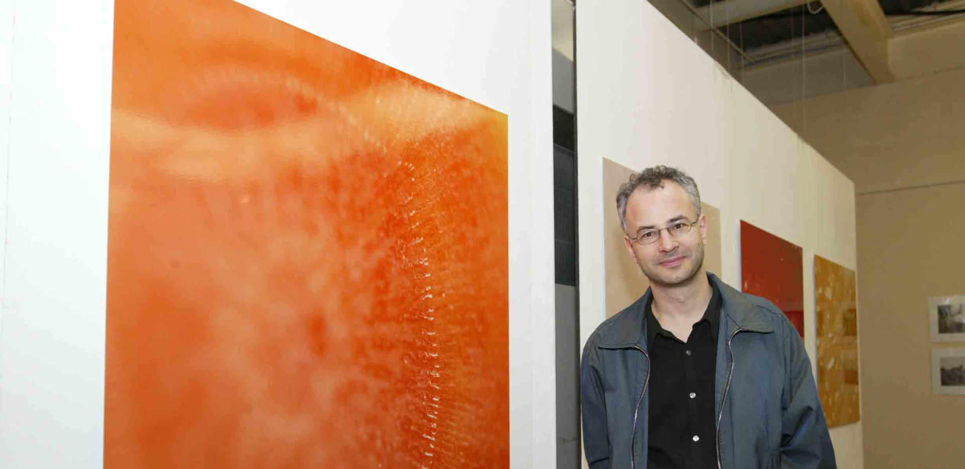 Andreas Zippler in front of his work