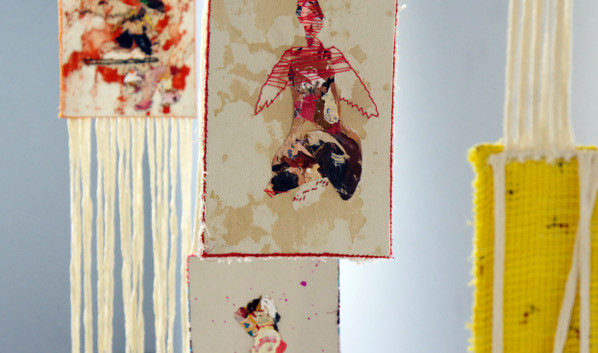 Soodeh Bagheri Mix media and sewing on fabric 2013