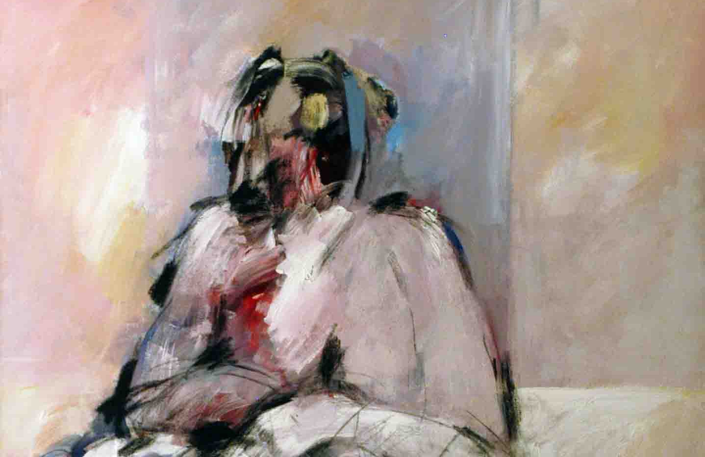 Abdul Raheem Salem Me and She Acrylic on canvas 150 x 100 cm 2006