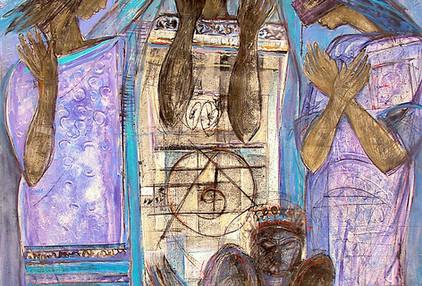 Mohammad Hossein Maher Mix media on canvas 120 x 80 cm 2000