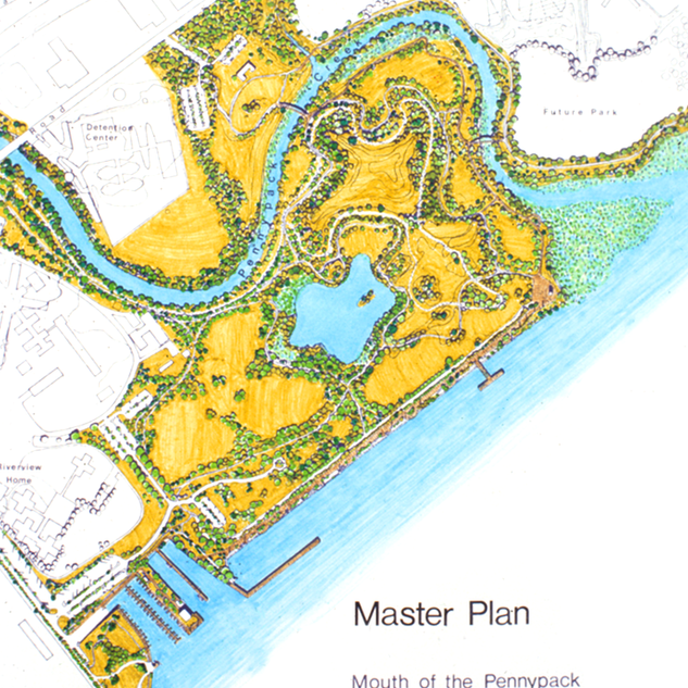 Master plan of Pennypack Park