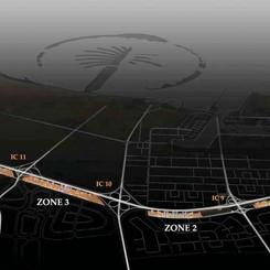 Zones comprising Downtown Jebel Ali
