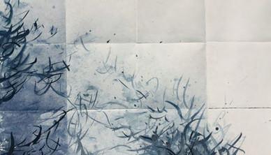 Frozen Winter Unfolded Watercolor 45.7 x 60.9 cm