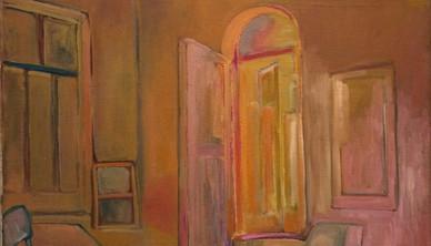 Ali Golestaneh Artist's room Oil on canvas 126 x 103 cm 2013