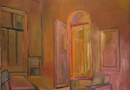Ali Golestaneh Interior Oil on Canvas 126 x 103 cm 2013