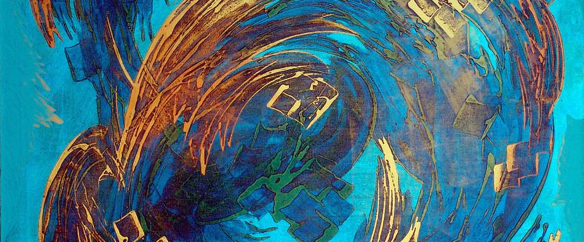 Sedaqat Jabbari Mix media on canvas 150 x 100 cm