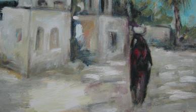 Abdul Rahim Salem Me & She Acrylic on canvas 46 x 36 cm 2008