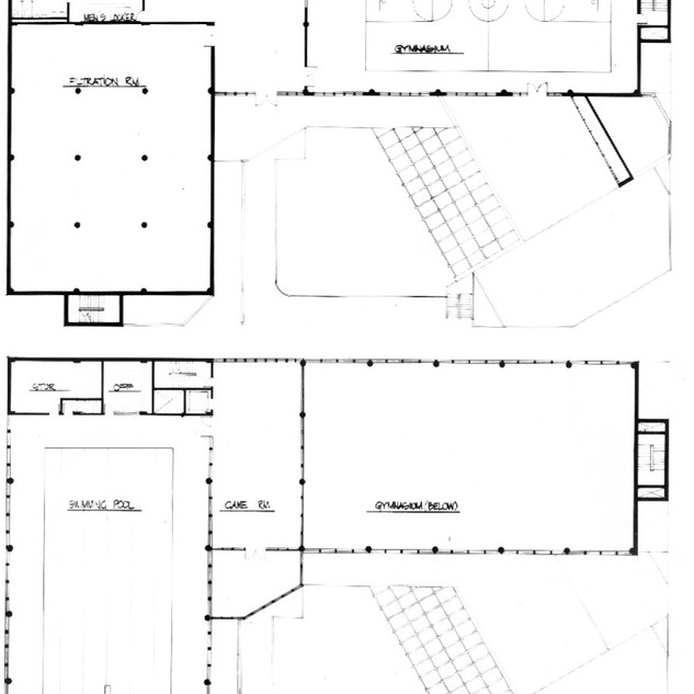 Third floor (top) and fourth floor plans