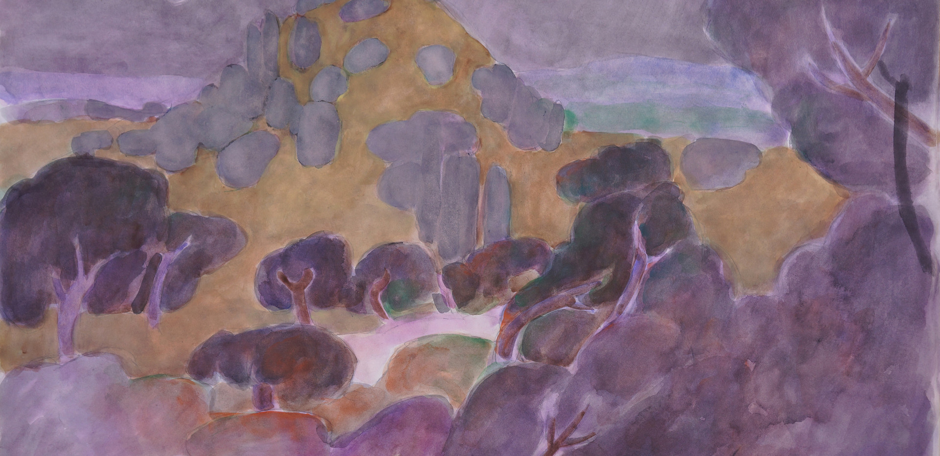Ali Golestaneh Talaghan Gouache on paper 100 x 70 cm 2006