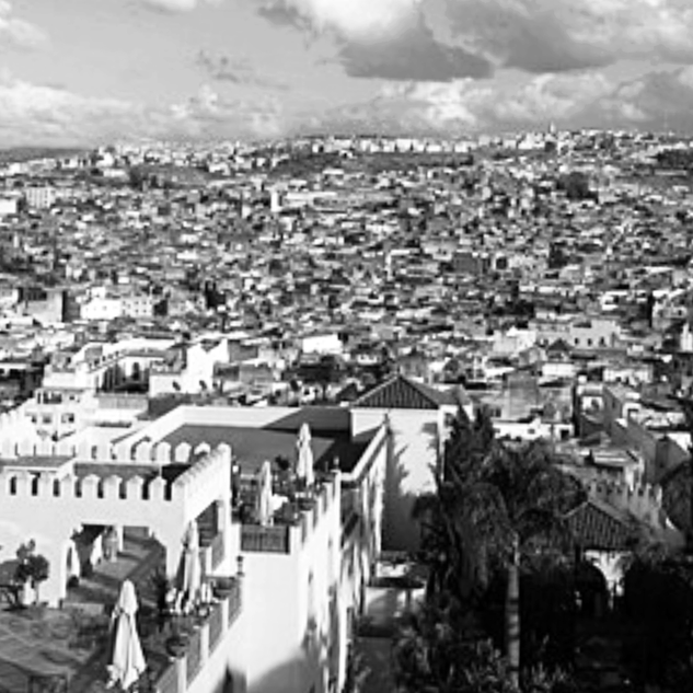 View of the old city of Fez