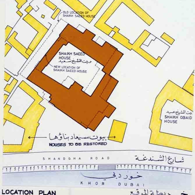 Zoomed in location plan of Sheikh Saeed House
