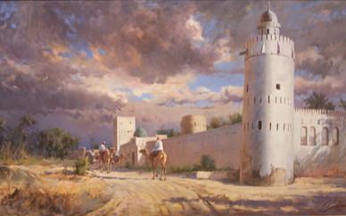 Mohseni KermanshahiCamel Rider passing by the Ruler's Fort, Abu Dhabi