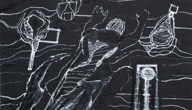 Farshid Maleki Gouache on paper 39.5 x 49 cm 2004